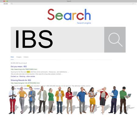 irritable bowel syndrome: IBS Illnes Medical Sick Symptoms Concept Stock Photo