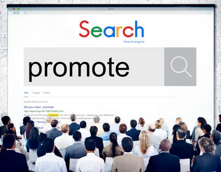 promote: Promote Communication Branding Advertise Concept Stock Photo