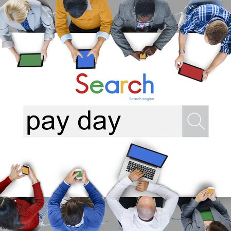 payday: Pay Payday Payment Profit Benefit Banking Asset Concept