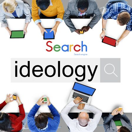 theory: Ideology Iedals Philosophy Teaching Theory Concept Stock Photo