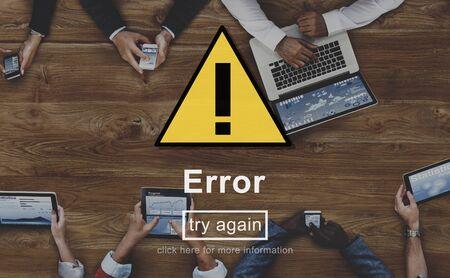 estadisticas: Error Error Recordatorio línea Cuidado con Alerta Concept