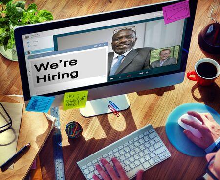 recruit: We Are Hiring Interview Recruit Applicant Job Concept