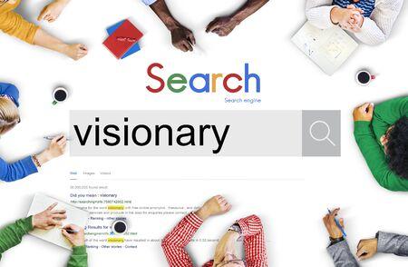 visionary: Visionary Vision Visional Thinking Idea Creative Concept