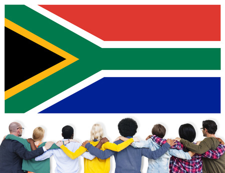 south africa flag: South Africa Flag Patriotism South African Pride Unity Concept Stock Photo