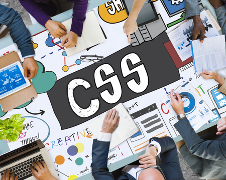 Business planning concept with CSS