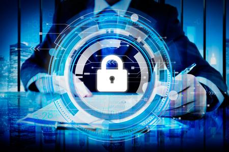seguridad en el trabajo: Concepto del asunto corporativo de seguridad Protección Seguridad
