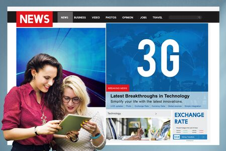 3g: 3G Technology Communication Networking Internet Online Concept Stock Photo