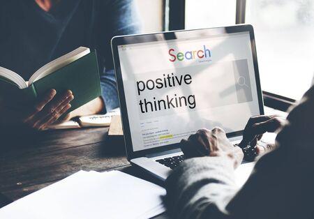 inspire: Positive Thinking Optimism Attitude Choice Inspire Concept