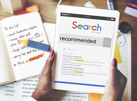 recommended: Recommended Recommendation Satisfaction Offer Concept Stock Photo