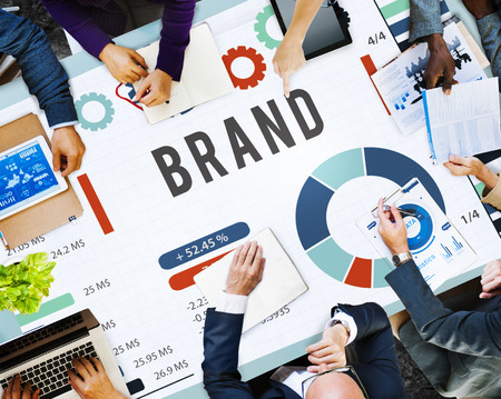 Business planning with brand concept Stockfoto