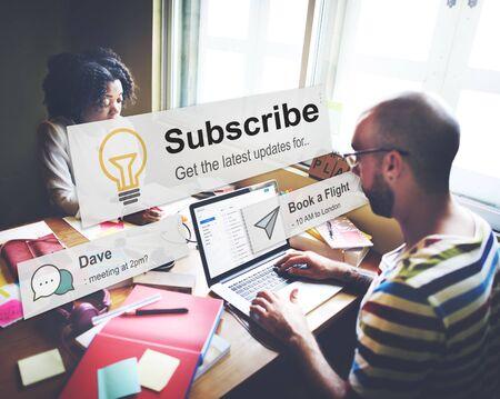 Subscribe Follow Subscription Membership Social Media Concept