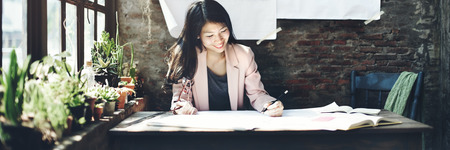professional occupation: Businesswoman Beautiful Occupation Confident Concept Stock Photo