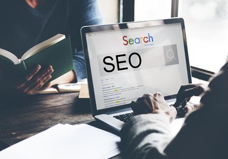 의 SEO 검색 엔진 최적화 사업 마케팅 개념 스톡 콘텐츠
