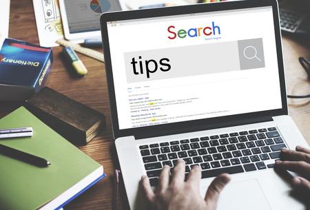 Tipps und Tricks Fähigkeit Expert Support Support Hilfe-Konzept