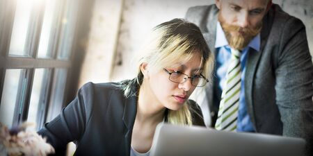 Manager secretaris Collaboration Meeting Discussion Concept