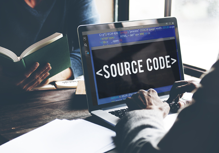 source code: Source Code Data Javascript Computer Language Concept Stock Photo
