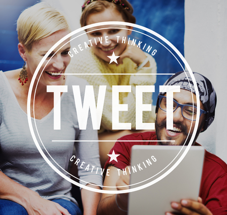 tweet: Tweet Social Media Networking Connection Global Communications Concept Stock Photo