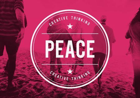 nonviolence: Peace Free Freedom Harmony Quite Solitude Zen Concept