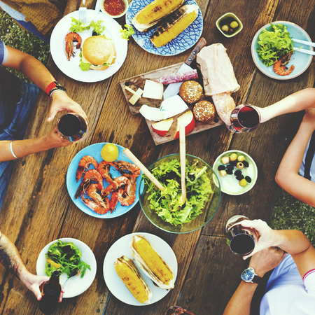 brunch: Friends Friendship Outdoor Dining People Concept Stock Photo