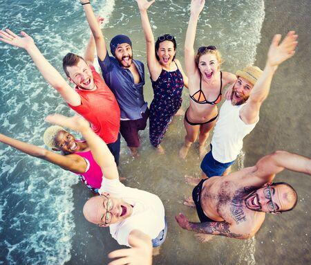 Summer Beach Amitié vacances vacances Concept Banque d'images