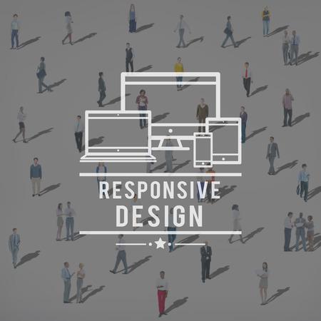 information design: Responsive Design Information Content Layout Concept
