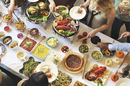 catering food: Buffet Dinner Restaurant Catering Food Concept