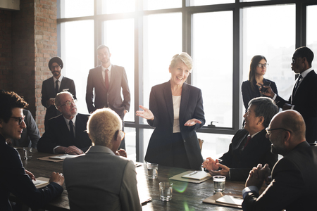 Meeting Corporate Success Brainstorming Teamwork Concept Standard-Bild