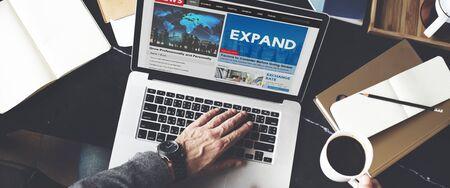 Expand Enlarge Development Growth Progress Grow Concept Banco de Imagens