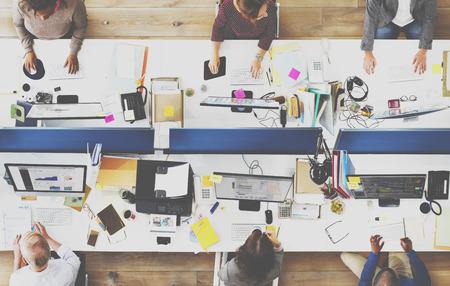 papírnictví: Office Team Working pracoviště Concept pospolitosti