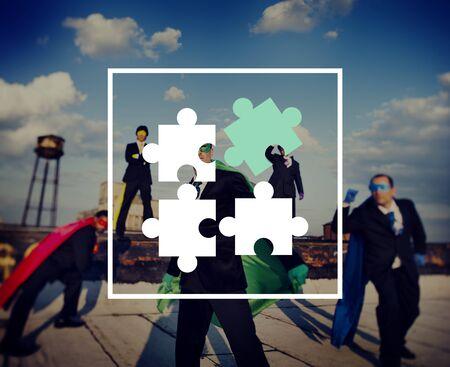 partnership power: Jigsaw Puzzle Partnership Teamwork Team Concept