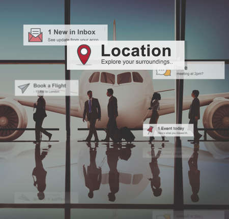 flight mode: Business People Corporate Travel Airport Concept Stock Photo