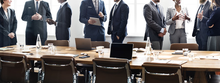 african business man: Business People Meeting Discussion Working Concept Stock Photo