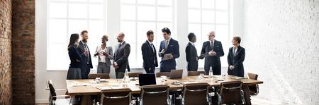 Réunion du Groupe d'affaires Discussion Stratégie Concept de travail Banque d'images