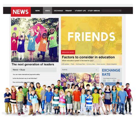 friendliness: Amigos amistad Community Fellowship Concepto de las personas Foto de archivo