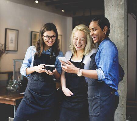 the uniform: Coffee Shop Cafeteria Leisure Uniform Apron Concept
