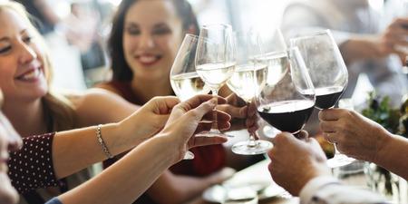Brunch Keuze Crowd dining opties eten concept Stockfoto
