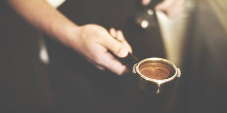 automat: Barista Coffee Brewing Grind Professional Concept
