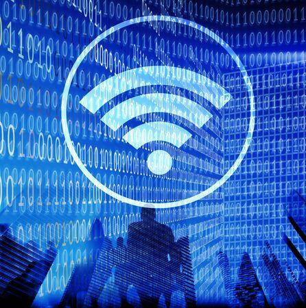 internet network: Wifi Hotspot Internet Network Signal Wireless Digital Concept
