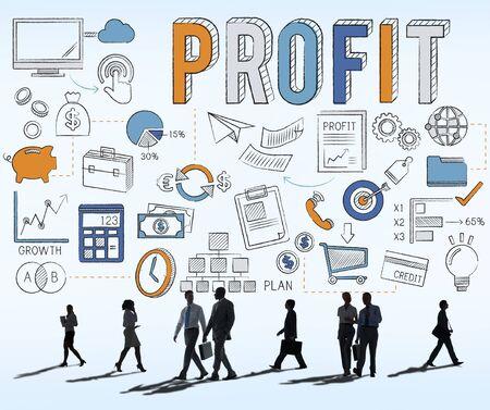 commuting: Revenue Profit Sales Finance Concept Stock Photo