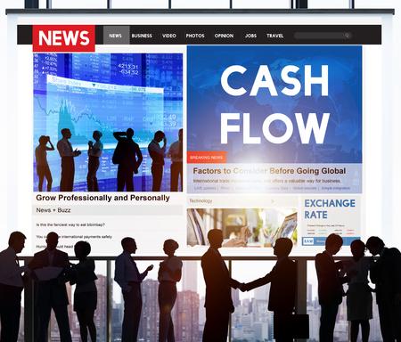 cash flow: Cash Flow Finance Economy Credit Business Concept