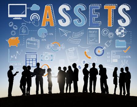 Actif Ressources propriété Wealth Concept