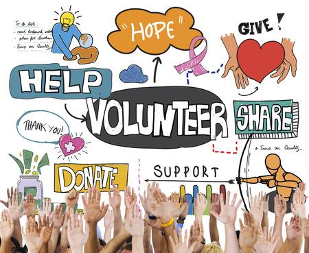 Volunteer Voluntary Volunteering Assist Charity Concept