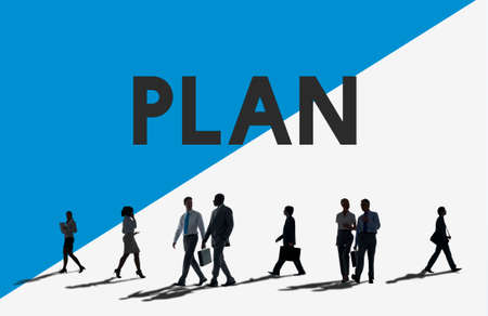 commuter: Business People Commuter Plan Planning Concept Stock Photo