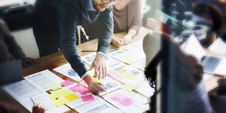 team leader: Business People Planning Strategy Analysis Office Concept Stock Photo