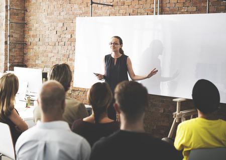 Business Team Training Luisteren Meeting Concept Stockfoto