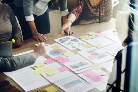 LIDER: Reuni�n del Equipo de negocios Concepto de Planificaci�n de Proyectos