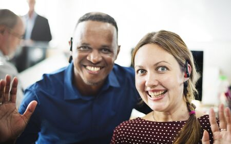 workmate: Colleague Friends Smiling Cheerful Workplace Concept