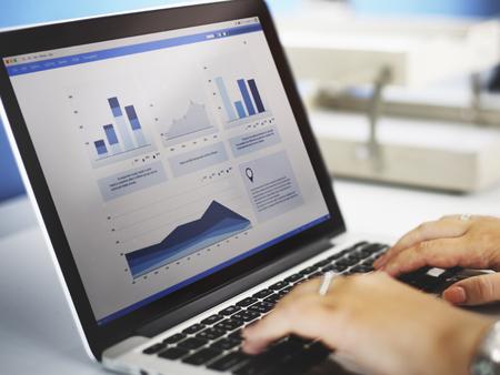 Business Research Data Economy Statistics Concept Foto de archivo