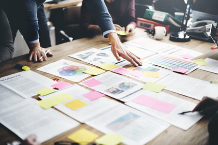 Biznes Ludzie Meeting Design Ideas Concept
