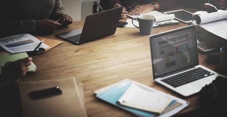 Business team werken Beambte Concept Stockfoto